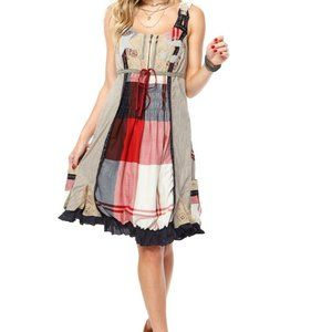 Desigual Size 38 Dress Bon Jour Patchwork Pockets